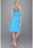 Tahari by Arthur S. Levine Tahari by ASL - Corey Jacquard Dress (Turquoise) - Apparel