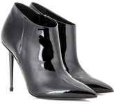 Black Patent Leather Ankle Boots - ShopStyle