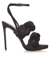 Marco De Vincenzo Velvet high-heel sandals