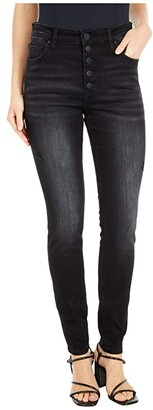 KUT from the Kloth Mia High-Rise Skinny Button Fly in Enthused (Enthused Wash) Women's Jeans