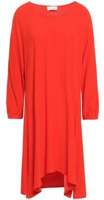 American Vintage Flared Crepe-satin Mini Dress