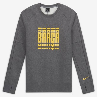 Nike Men's Fleece Long-Sleeve Soccer Crew FC Barcelona
