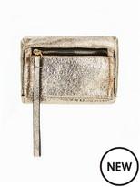 Very Mini Box Wristlet Clutch - Crackle Metallic