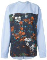 Cédric Charlier floral print panel shirt