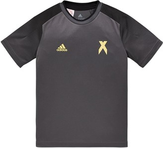 adidas Youth Jersey Top - Black/Gold