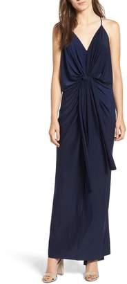 MISA Domino Knot Maxi Dress