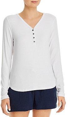Three Dots High/Low Henley Top