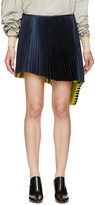 Thomas Laboratories Tait Navy Pleated Asymmetrical Skirt