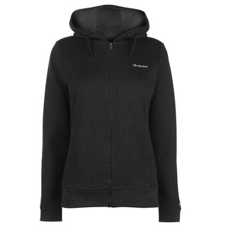 L.A. Gear Womens FZ Hoody Ladies Long Sleeve Full Zip Casual Hoodie Sweat Top Charcoal Marl 22 (XXXXL)