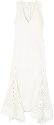 Dion Lee Cutout Neoprene And Stretch-knit Midi Dress
