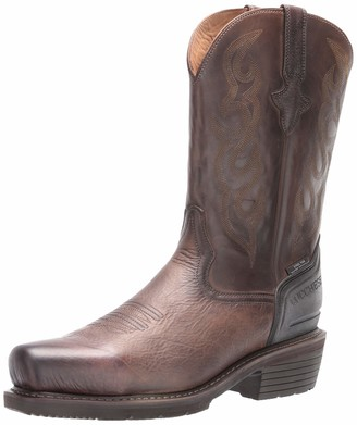 "Lucchese Bootmaker Men's Welted Western 12"" Work Boot: Steel Medium Square Toe Construction"