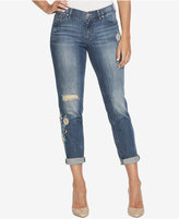 Jessica Simpson Juniors' Mika Embroidered Girlfriend Jeans