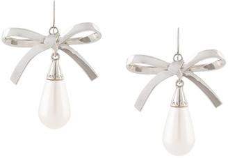 Carolina Herrera Bow Faux-Pearl Drop Earrings