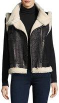 Joie Danay Fur Vest, Black