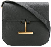 Tom Ford 'T' buckle shoulder bag - women - Cotton/Calf Leather/Polyester - One Size
