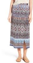 Nic+Zoe Print Midi Skirt (Regular & Petite)