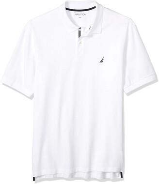 Nautica Men's Big & Tall Short Sleeve Stretch Solid Deck Polo Shirt