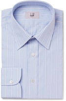 Dunhill Light-blue Slim-fit Striped Cotton Shirt - Light blue