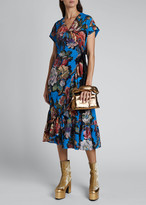 Dries Van Noten Delft Floral-Print Wrap Dress