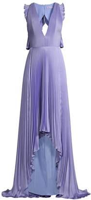 Flor Et. Al James Satin Pleated Gown