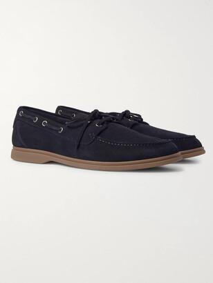 Brunello Cucinelli Suede Boat Shoes