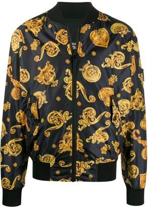 Versace filigree print bomber jacket