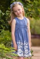 Isobella & Chloe Sweetwater Blue High-Waist-Dress