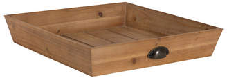 "Laurèl Kate and Woodmont Wood Square Ottoman Tray - 20"" x 20"""