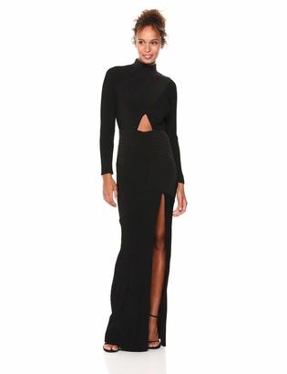 Tadashi Shoji Women's l/s Pintuck Gown with Split/Cutout
