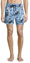 Vilebrequin Moorea Paint-Splatter Print Swim Trunks, Pollock