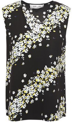 Diane von Furstenberg Janet Floral-print Crepe-jersey Top