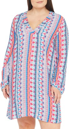 La Blanca Global Jive Long Sleeve Tunic Cover-Up