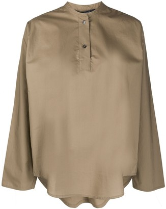 Sofie D'hoore Band Collar Poplin Shirt