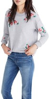 Madewell Women's Embroidered Crop Sweatshirt