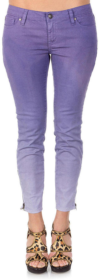 Jessica Simpson Kiss Me Zip Ankle Twill Ombre Purple Juniors