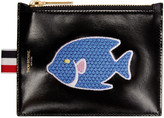 Thom Browne Black Small Embroidered Coin Purse
