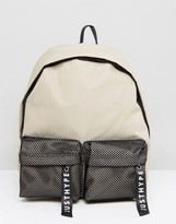 Hype Double Pocket Backpack In Stone