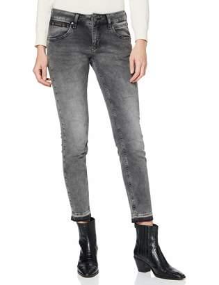 Herrlicher Women's Touch Cropped Denim Black Stretch Slim Jeans