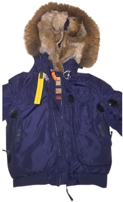 Parajumpers Blue Raccoon Coat for Women