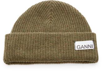 Ganni Wool-Blend Beanie