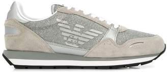 Emporio Armani glitter logo sneakers