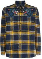 Gucci Wolf Patch Check Shirt