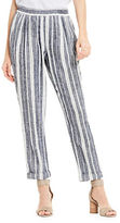 Two By Vince Camuto Linen Striped Ankle Pants