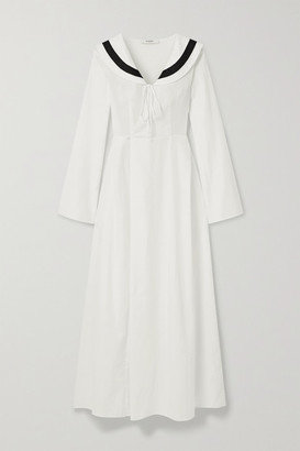 Marysia Swim Andros Striped Cotton-blend Jacquard Dress