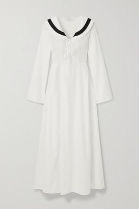 Marysia Swim Andros Striped Cotton-blend Jacquard Dress - White