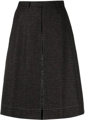 Maison Margiela Four-Stitch Houndstooth Shorts