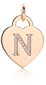 "Tiffany & Co. Alphabet heart tag letter ""N"" charm"