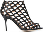 Sergio Rossi cut out heeled sandals - women - Leather - 36