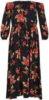 *Izabel London Navy Strapless Floral Print Maxi Dress