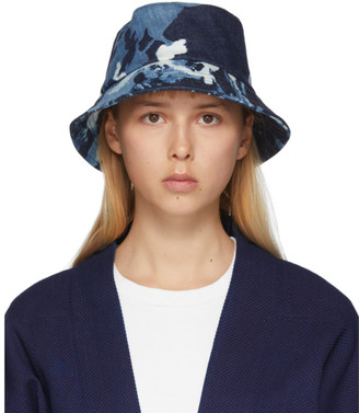 Blue Blue Japan Indigo Kago Bassen Bucket Hat